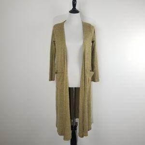 Lularoe long cardigan wheat beige pockets sweater